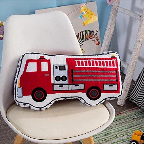 Brandream Boys Pillow Fire Truck Pillow Boys Cotton Decorative Throw Pillows Couch Bed Living Room Kids Bedroom Decor