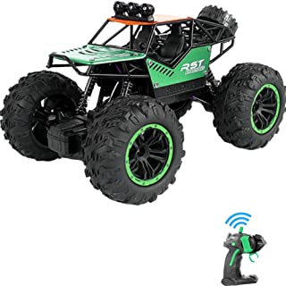 Rock Climbing Stunt RC Car, 4WD 2.4GHz Remote Control truck with off road tires LED Lights RC drift cars for Boys Birthday...
