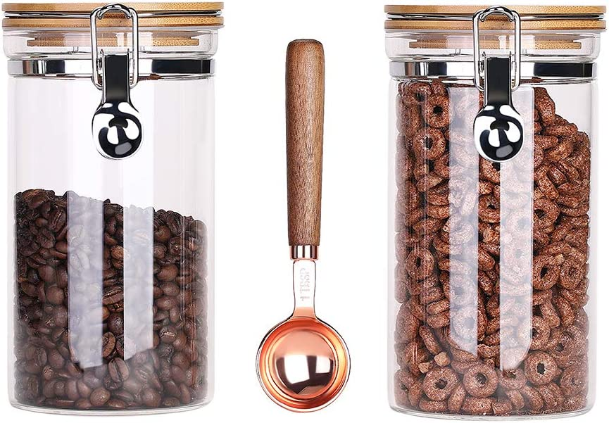 Lanyani Airtight Storage Glass Jars Bamboo Clamp SEAL limited product Leak with Lids Large-scale sale