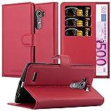 Cadorabo Coque pour LG G4 / G4 Plus en Rouge Cerise - Housse Protection avec Fermoire Magnétique,...