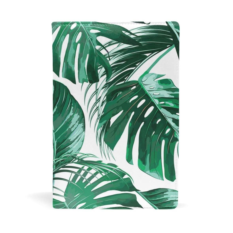 ドットうまびっくりする熱帯ヤシの葉 ブックカバー 文庫 a5 皮革 おしゃれ 文庫本カバー 資料 収納入れ オフィス用品 読書 雑貨 プレゼント耐久性に優れ
