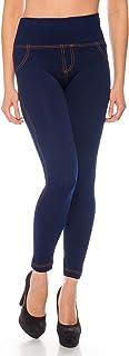 comprar comparacion Kendindza Mujer Leggings térmicos para Jeans-Look forrado con interior de polar básico opaco