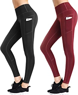 LifeSky Yoga Pants for Women, Comfy High Waisted Leggings with Pockets, Tummy Control Elastic 4 Way Stretch Fabric