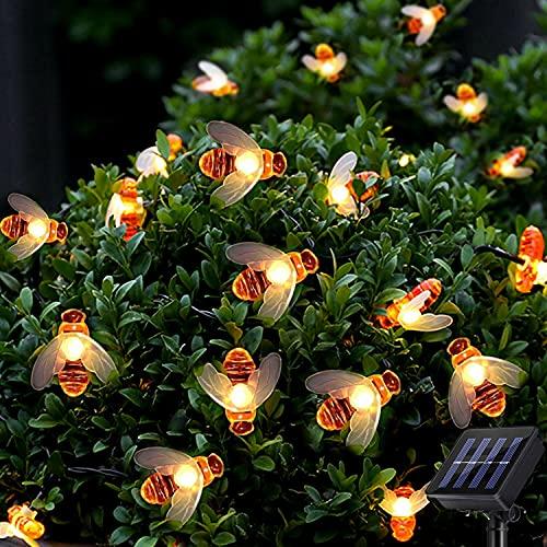 Solar Outdoor Garden String Lights - Suplong 8 Mode 50 LED Waterproof Honey...