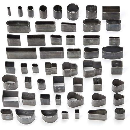 teng hong hui 39-Piece One Hole Hollow Punch Tool DIY Handmade Leather Puncher 39-Piece Wallet Craft Set Wallet Belt Puncher