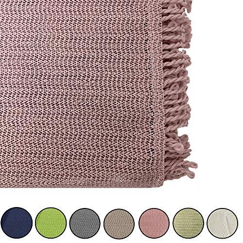 JEMIDI tuintafelkleed weerbestendig tafelkleed rond of vierkant tafelkleed tuintafel weerbestendig Eckig 130cm x 220cm Oud roze