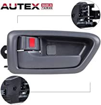 AUTEX 91002/91006 Grey Interior Door Handle Front/Rear Left Driver Side Compatible with Toyota Camry 1997 1998 1999 2000 2001 TO1310114, TO1311114