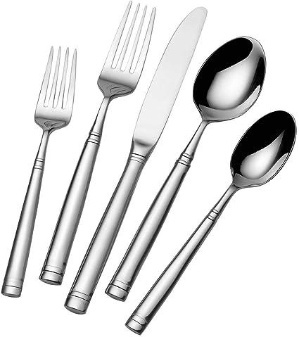 Mikasa 5100238 Stephanie 20 Piece 18 10 Stainless Steel Flatware Set Service For 4 Stephanie Cos1227338 Amazon Co Uk Kitchen Home