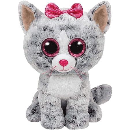 TY - Beanie Boos Kiki, peluche gatita, 15 cm, color gris (United Labels Ibérica 37190TY) , color/modelo surtido
