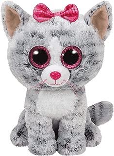 Ty Kiki Grey Cat Plush, Regular