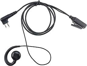 KS K-STORM Surveillance Walkie Talkie Earpiece Headset with PTT Compatible with Motorola Radio CP200, RDM2070D, CLS1413, HKLN4604, HKLN4604A, HKLN4604B, PU Material, Black