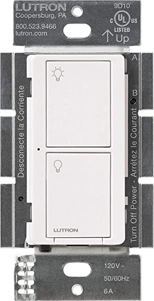 Lutron PD 6ANS WH Caseta Wireless Smart Lighting Switch For All Bulb Types Amp Fan