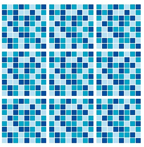 PaperThemes - Pegatinas de Mosaico para Cubrir Azulejos de Pared de 6 x 6 Pulgadas, 12 Unidades, Color Azul Marino