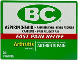 Bc Arthritis Formula Pain Reliever Powders 50 ea (Pack of 6)