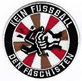 St Pauli Aufnäher/Bügelbild/Abzeichen/Iron on Patch Kein Fussball den Faschisten