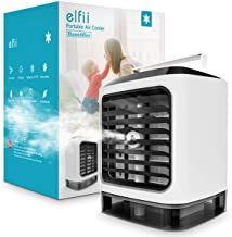 Elfii Ultra Evaporative Personal Space Air Cooler | Portable Air Conditioner,Humidifier,Moist,Low Noise,Purifies Air, LED Light, Small Desk Fan | Mini Coolair AC for Home/Office/Bedroom/Outdoor/Baby