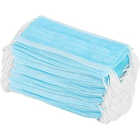 D2Q 3 Ply Disposable Surgical Face Mask Protective layer (Pack of 50) For Men And Women   Use and Throw Face Masks