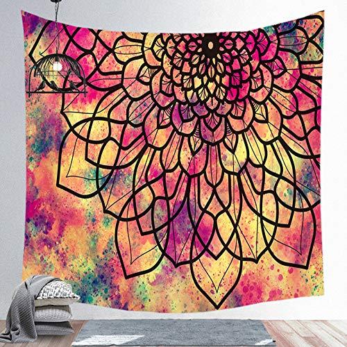Multi-gekleurde tapijt muur opknoping Polyester Mandala patroon deken slaapkamer Living Home decoratie Yoga multifunctionele Mat, 11,150 Cm x 200 Cm