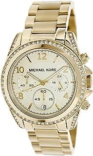Michael Kors Blair Glitz Women's Beige Dial Stainless Steel Band Watch - MK5166
