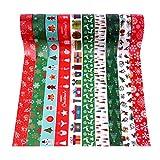 MIAHART 20 Rolls Christmas Washi Tape Set, Xmas Masking Tape Decorative Holiday Washi Tape Gift Wrapping Tape for Christmas Party Decorations