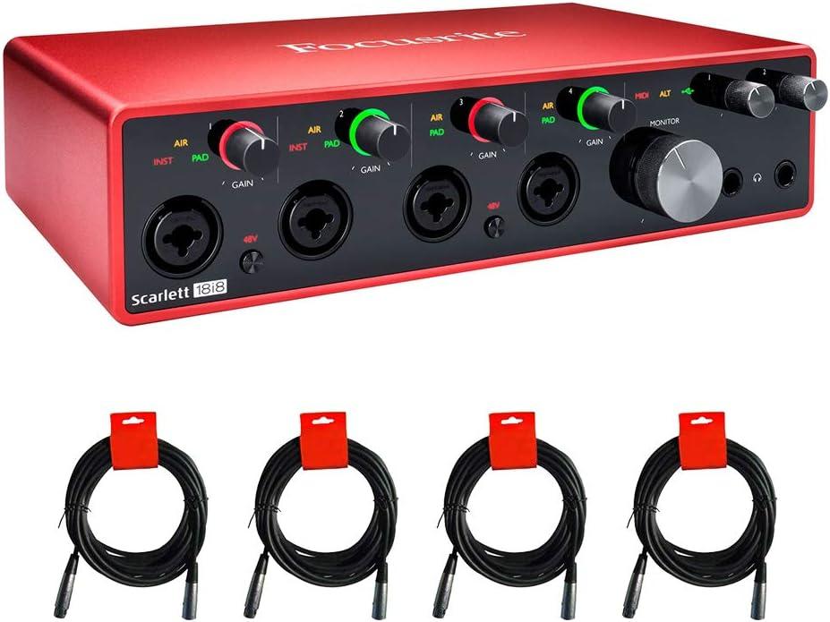 NEW Focusrite Scarlett 18i8 USB Audio Gen 3rd Bundle Interface Cheap super special price wit