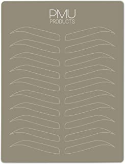 PMU Premium Microblading Practice Skin Double-Sided | Professional Realistic Hairstroke Tattoo Latex | Special Eyebrow Designs For Cosmetic Tattooing (White - 5)