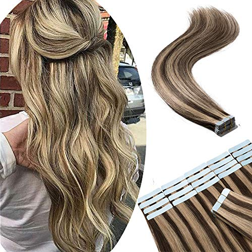 Tape in Remy Hair Extensions 100% Human Hair 18' 100g 40pcs Long...