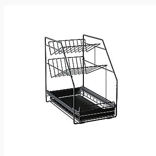 YLKCU Porte épices Organisateur sous évier sous étagère d'évier sous évier Rangement Cuisine Panier Coulissant à 2 Niveau...