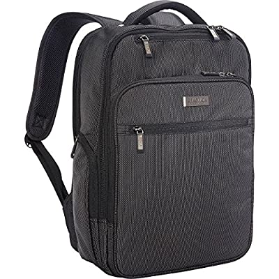 """Kenneth Cole Reaction Brooklyn Commuter 16"""" Backpack Pink Dot Charcoal One Size"""