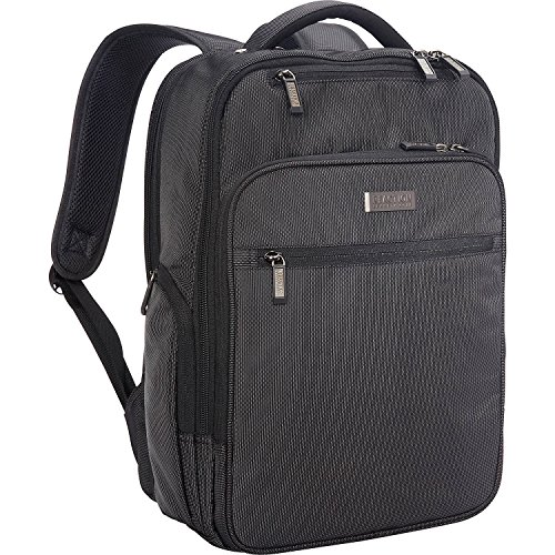 """Kenneth Cole Reaction Brooklyn Commuter Slim Backpack 16"""" Laptop & Tablet Business, School, & Travel Computer Bookbag, Charcoal Polyester"""