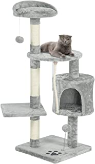 Mellcom Multi-Level Cat Tree Tower Condo with Cat Scratching Post Cozy Hammock and Baskets,Kitty Activity Center Kitten Play House, Cat Tower Furniture for Kitty
