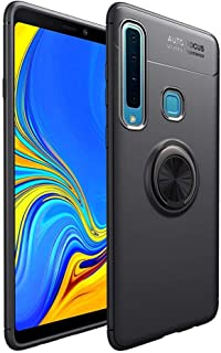 Samsung Galaxy A9 2018 Magnetic Ring Holder TPU Case Cover - Black.
