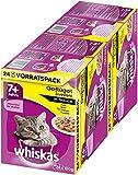 whiskas 7 + alimento para Gatos - Selección de Aves en Salsa - Alimento para Gatos Partir del 7. años de Vida y Mayores
