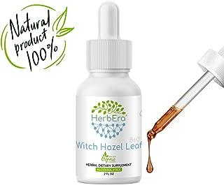 Witch Hazel Leaf B60 Alcohol-Free Herbal Extract Tincture, Organic Witch Hazel Leaf (Hamamelis virginiana) Dried Leaf (2 fl oz)