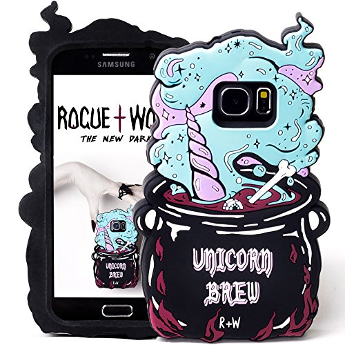 Cute Unicorn Brew S6 S7 Galaxy Phone Case for Girls Kawaii 3D Protective Silicone Phone Cover Cases S6 Edge