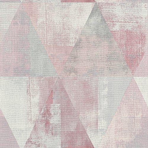 Rasch 410938 Vliestapete, Pink, Rosa, Grau