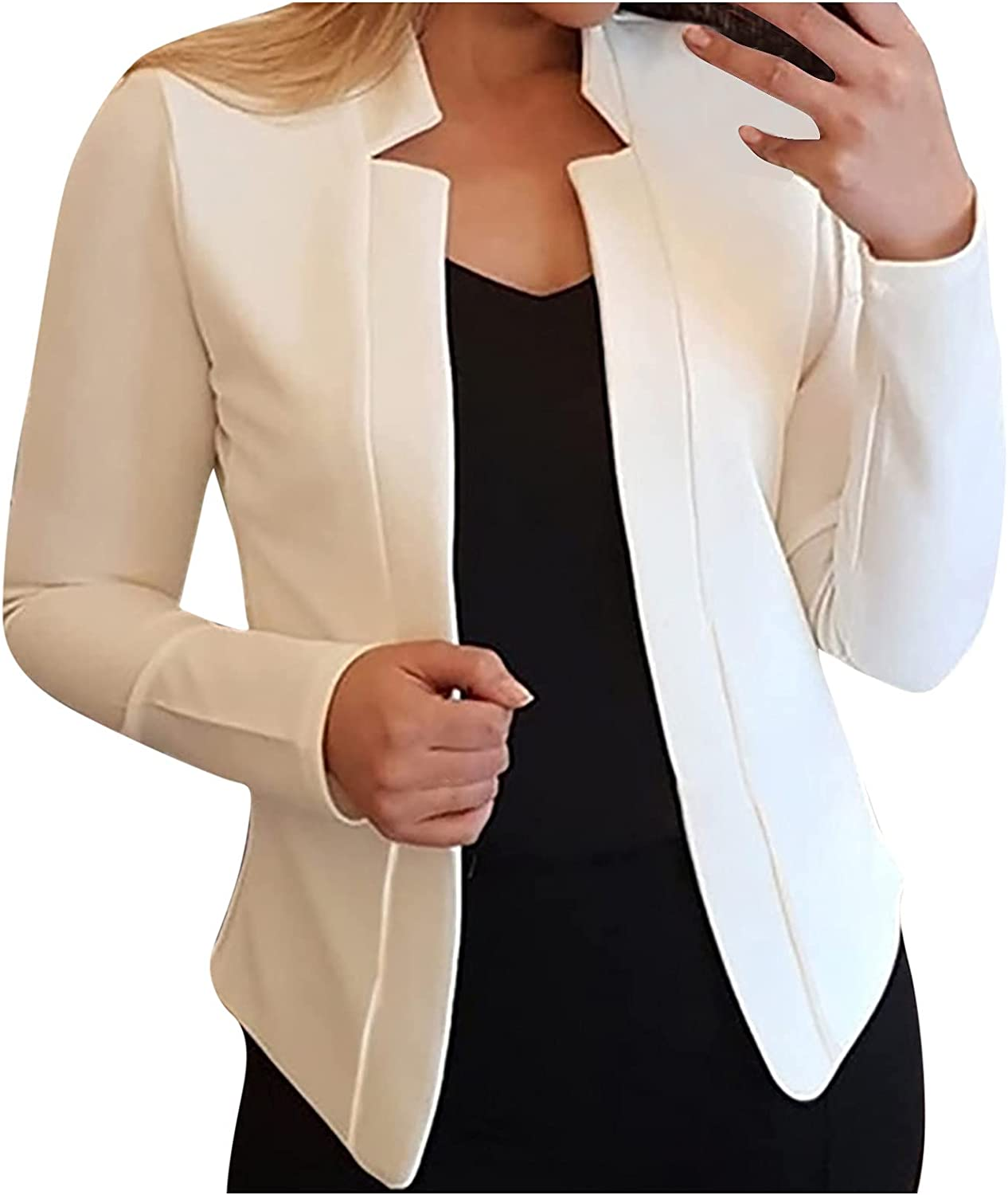 Blazer Jackets for Women Casual Max 45% OFF Solid Front Open Business C Suit Virginia Beach Mall
