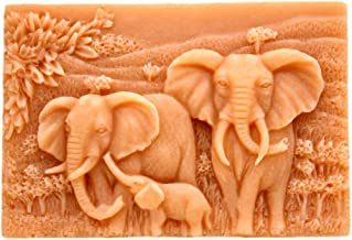 Silicone Mold Elephant Family Soap Molds Soap Making Mould Resin Mold Handmade Soap Mould DIY Craft Art Molds Flexible 1 pc