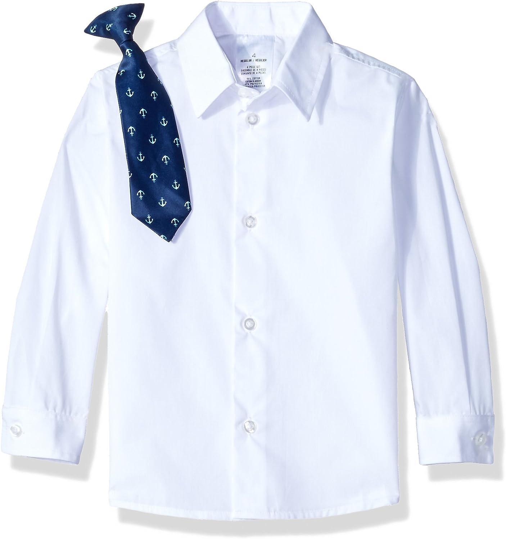 Jacket Nautica Boys 4-Piece Suit Set with Dress Shirt Tie and Pants