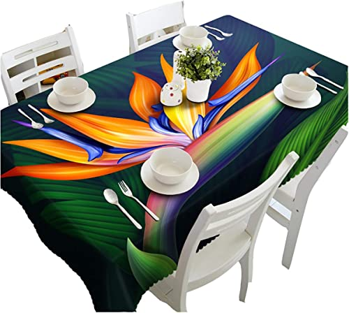HUANZI Größer Umweltschutz Tischtuch Tischw he Abwaschbar 3D Farbe Blaumen Staub Und Umweltschutz Tischdecke Moderne Rechteckigen Tischdecken