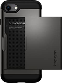 Spigen Slim Armor CS Designed for Apple iPhone 8 Case (2017) / Designed for iPhone 7 Case (2016) - Gunmetal