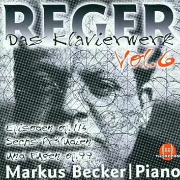 Max Reger: Das Klavierwerk Vol. 6