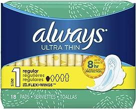 Always Ultra Thin Pads Regular Flexi-Wings 18 ea