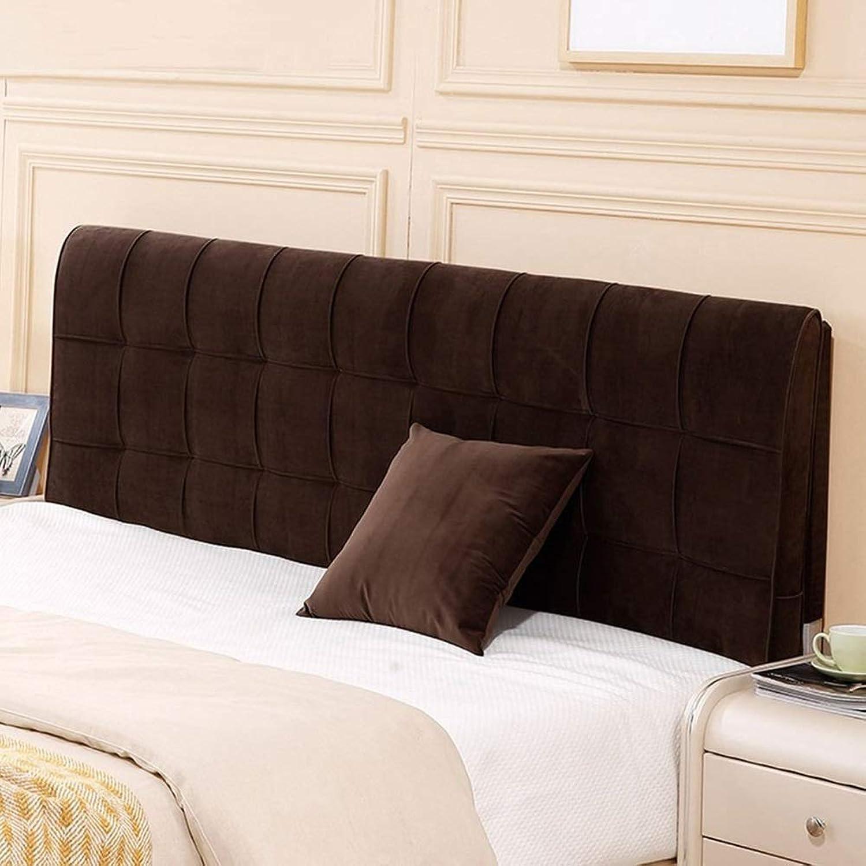 QIANCHENG-Cushion Tête De Lit Coussin it arrière Oreiller compensé étui Souple Lit Double Lavable, 4 Couleurs (Couleur   Dark Coffee, Taille   No headboard-180cm)