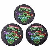 Teenage Mutant Ninja Turtles Characters Iron On Patch Set of 3