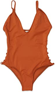 Dippin' Daisy's Low V-Neck Caged Side with Spaghetti Straps Moderate Coverage One Piece Bikini