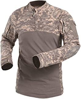AKARMY Men's Tactical Military Combat Long Sleeve Camo Shirt with 1/4 Zipper