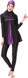 Women's Full Length Long Muslim Islamic Burkini Modest Swimwear Black Swimming Accessores for Women