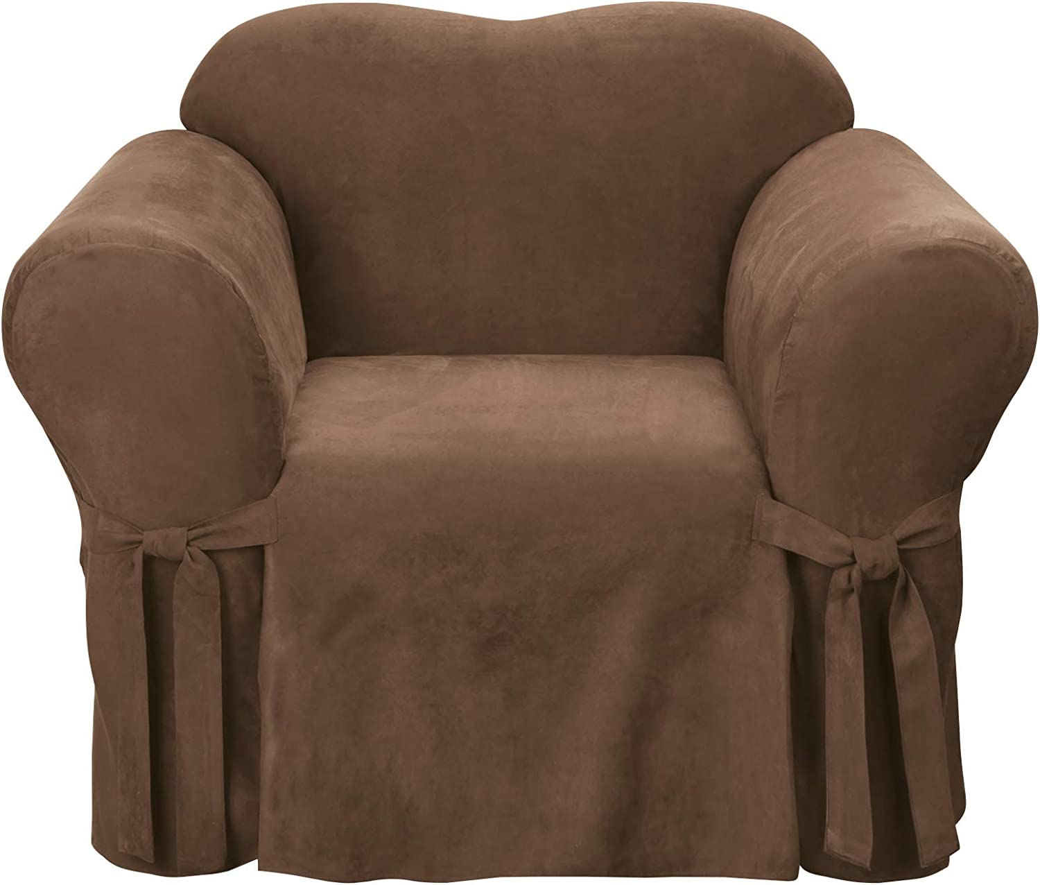 SureFit Home Décor Soft Suede Relaxed Chair Cover Cushion Fi Challenge the lowest price of Japan Nashville-Davidson Mall