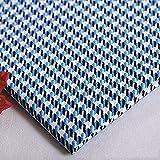 Klassischer Hahnentritt-Polyester-Baumwoll-Quiltstoff, Leinenstoff, Bastelstoff für Schneiderarbeiten, Taschen, weicher Sofakissenbezug, Gartentischdekoration